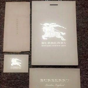 Authentic Burberry Bag, Waller cloth, & envelopes
